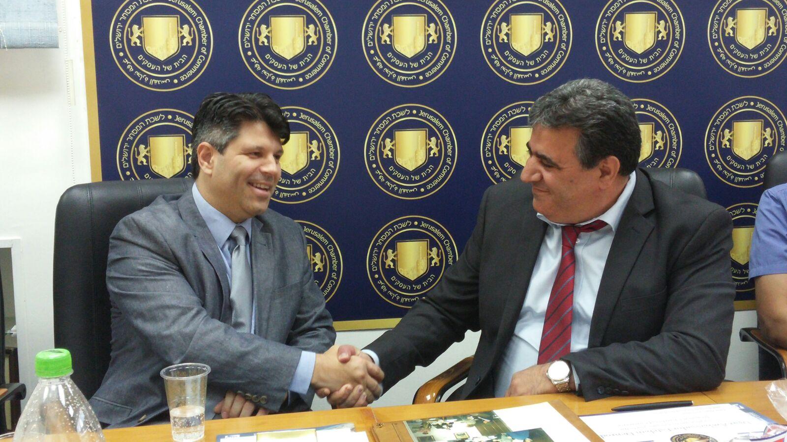 נשיא לשכת המסחר מר דרור אטרי יחד עם שגריר קוסטה ריקה