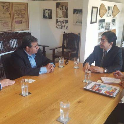 פגישה בין נשיא הלשכה דרור אטרי לבין שגריר הפליפינים