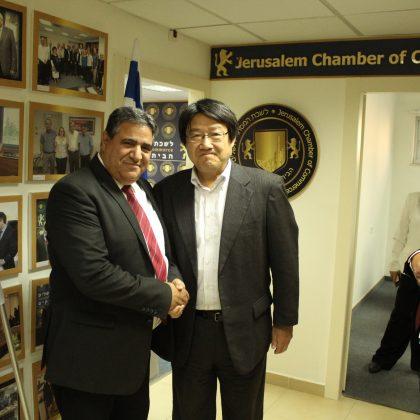 לשכת המסחר ירושלים מארחת את נשיא פנסוניק העולמית טושיהיד טומינאגה