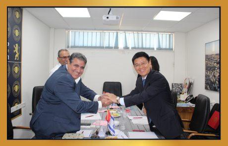 ביקור נציגי מרכז הסחר של סין בלשכת המסחר ירושלים לקידום הסחר בין ירושלים וסין