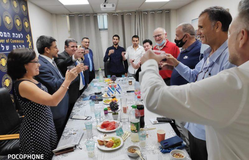 הרמת כוסית חגיגית לשנה החדשה בסימן שנה לנציגות הדיפלומטית – משרד סחר של מדינת הונדורס בבית לשכת המסחר ירושלים !