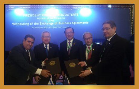 לשכת המסחר ירושלים והפיליפינים חותמים על הסכם שיתוף פעולה לקידום הסחר והזדמנויות העסקיות !