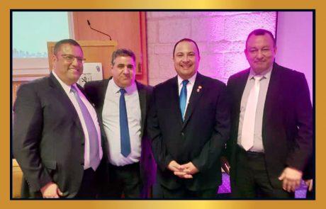 נשיא לשכת המסחר ירושלים דרור אטרי באירוע לרגל השנה החדשה