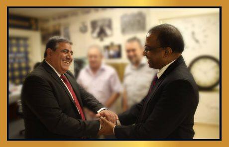 מעמיקים את הקשרים בין ירושלים לבין הודו והשגרירות הנוצרית לקידום הסחר והזדמנויות עסקיות לחברנו במגזר העסקי