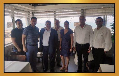מפגש עסקי עם בעלי עסקים מטורקיה